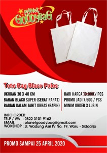 Promo tote bag blacu